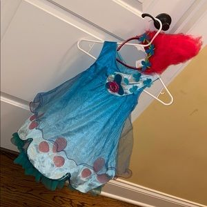 Poppy Trolls Costume and headband - Toddler
